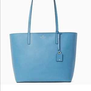 NWT kate spade Janie med leather tote in blue